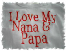 I Love My Nana & Papa Baby Bib Any Color