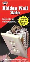 Hidden Wall Safe Electrical Outlet Hidden Security Safe w/ Key Mini Vault Secret