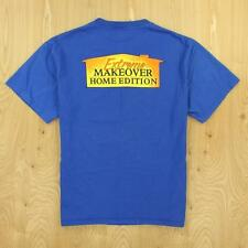 EXTREME MAKEOVER HOME EDITION tee t-shirt, size LARGE, blue tv show