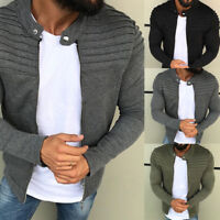 Casual Men's Winter Slim Warm Sweatshirt Solid Color Coat Jacket Outwear Sweater