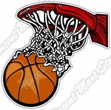 """Basketball Ball Basket Nba Sport Car Bumper Window Vinyl Sticker Decal 4""""X5"""""""
