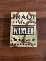 IRAQI Most Wanted Playing Cards Sealed Unopened Bicycle Brand Made In USA