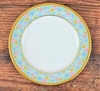 """Noritaki """"Figaro"""" 8 1/4"""" Bread Plate Floral Pattern With Gold Trim #2042 Japan"""
