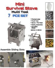 x Ultimate Mini Survival Dual Fuel Camping Fishing Stove Set Flat Pack
