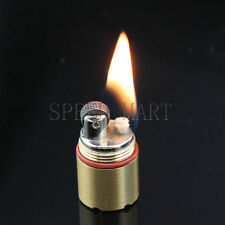 Mini Novelty Gear Fire Kerosene Cigarette Lighter Camp Key Ring Pocket Survival