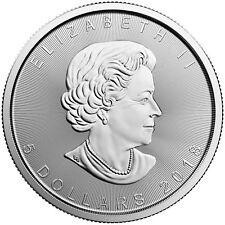 2018 $5 1oz Canadian Silver Maple Leaf Coins .9999 Fine BU