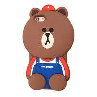 For iPhone 6S 7 Plus 3D Case Cover Cute Animals Cartoon Soft Silicone Back Skin