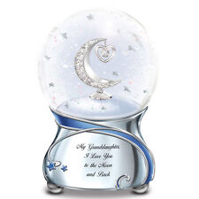 Granddaughter, I Love You To The Moon MUSICAL Snowglobe NEW