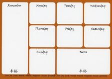 Meal Menu Planner Daily Weekly Activity Shopping Memo Organiser Magnetic A4