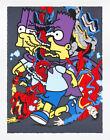 Ermsy SPLIT HERO Print DARK GREY Matt Gondek Simpsons Art Trout Shoeuzi Kaws x/6