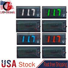 8 16v Digital Led Display Voltmeter Voltage Gauge Panel Meter For Car Motorcycle