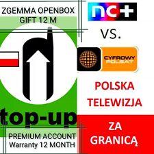 Polska Telewizja Doładowanie-Odblokowanie Abonament GIFT Zgemma VU Openbox inne