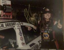 Hailie Deegan Signed First Win 8x10 NASCAR Meridian