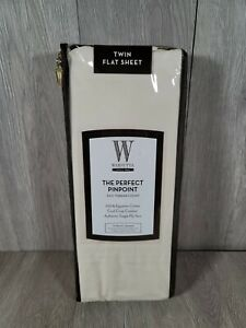 Wamsutta The Perfect Pinpoint 360 Thread Count Twin Flat Sheet Ivory