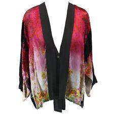 NEW NWT Citron Clothing Plus Size Floral Burnout Ribbon Cardigan Blouse 3X
