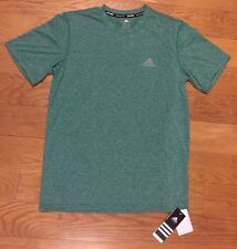 New Nwt Mens Adidas Green Climalite Athletic Short Sleeve Shirt Top Size Small S