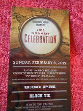 CELEBRATION AFTER PARTY TICKET KEEPSAKE 57TH GRAMMY AWARDS 2015
