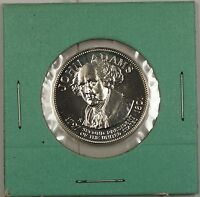 John Adams Presidential Commemorative Sterling Silver Medalette