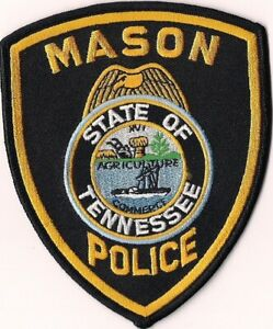 Mason Police Tennessee Patch TN