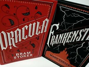 Dracula and Frankenstein by Stoker & Shelley New Leather Bound Set