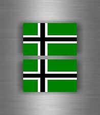 2x Sticker car decal biker banner tuning helmet viking raven vinland flag odin A