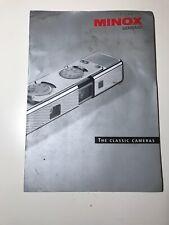 Minox Classic Camera Brochure Catalog Guide 2001