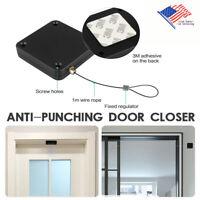 Punch-free Automatic Sensor Door Closer Self Closing Portable Home Office Doors