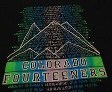 Colorado Mountain Peak Climbing Hiking Ski Travel Souvenir Fourteeners T Shirt