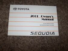 2001 Toyota Sequoia 4.7L V8 Operator User Guide Owner Owner's Manual