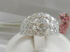 Tacori Epiphany Diamonique Bloom Cut Statement Ring Size 8