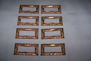 Vintage, 8 Lightweight, Stamp Brass Ormolu - See Description