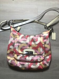 Coach Kristin Multicolor Leather Handbag Convertible Shoulder and Crossbody Bag