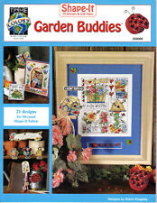 21~GARDEN DESIGNS~Counted Cross Stitch PATTERN BOOK For Shape-It Fabric~SEE PICS