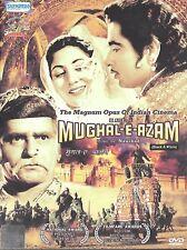 MUGHAL-E-AZAM (B/W) - DILIP KUMAR, MADHUBALA - COLLETORS EDITION BOLLYWOOD DVD