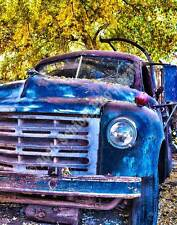 """Ol' Blue"" 8x10 Truck HDR Photograph Print KODAK ENDURA metallic paper"