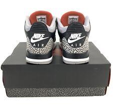 Boxed Nike Air Jordan 3 Retro OG Black Cement 2018 Release Trainers, UK 10