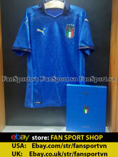 Box  Italy 2020-2021 home authentic shirt jersey blue Euro Limited player issue