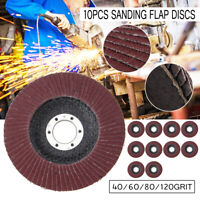 125mm 5'' Flap Discs Flex Sanding Disc Grit 40 60 80 100 120 Angle Grinder Wheel