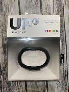 NEW Up 24 Jawbone Activity Sleep Tracker Fitness Large Wristband Black Wireless
