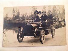 old postcard - RPPC, AUTO, TOURING CAR 1908