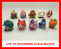 LOT SET 10 MINI FIGURINES YOKAI YO KAI WATCH MONTRE DX JEU JOUET ENFANT JIBANYAN