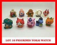 LOT SET 10 MINI FIGURINES YOKAI YO KAI WATCH MONTRE DX JEU JOUET ENFANT JIBANYAN