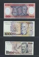 Brésil  Lot de 3 billets différents  en état NEUF Lot Numéro 5