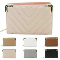 Women's Ladies Bifold Quilted Design All Over Wallet Purse New UK