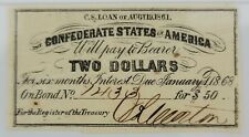 Pmg Choice Xf45 Confederate States of America Bond Coupon, $2 Bond for $50, 1861