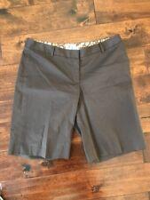 Milly New York Brown Chino Bermuda Shorts, Size 10