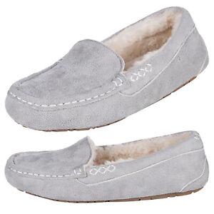 Heat Holders - Ladies Warm Fleece Lined Memory Foam Thermal Moccasin Slippers