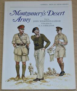 MONTGOMERYS DESERT ARMY British North Africa Second World War Osprey Men At Arms