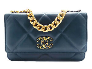 Chanel 19 Wallet on Chain WOC Cross Body Bag Green Leather