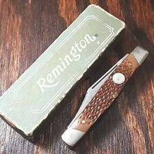 REMINGTON UMC  KNIFE MADE IN USA #R8 LONG PULL STOCKMAN FOLDING POCKET